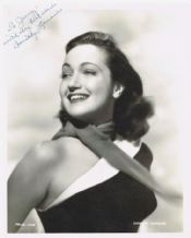 Dorothy Lamour Autograph Signed Photo